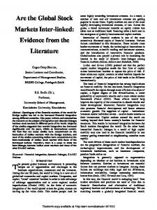 Are the Global Stock Markets Inter-linked: Evidence ... - SSRN papers