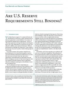 Are US Reserve Requirements Still Binding? - Federal Reserve Bank ...