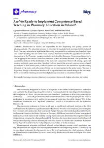 Are We Ready to Implement Competence-Based Teaching in ... - MDPI