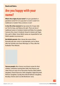 Are you happy with your name? - Oxford University Press