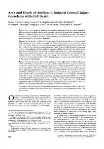 Area and Depth of Surfactant-Induced Corneal Injury ... - IOVS