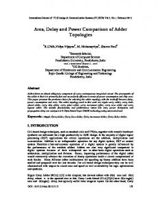 Area, Delay and Power Comparison of Adder ... - Aircc Digital Library