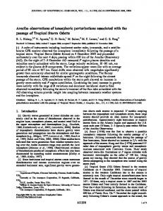 Arecibo observations of ionospheric ... - Wiley Online Library