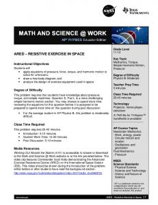 ARED - Exercise in Space Educator Edition (PDF 291 KB)