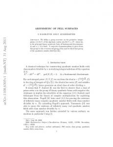 Arithmetic of Pell surfaces