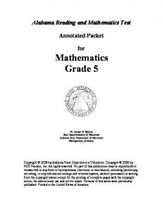 armt grade 5 mathematics