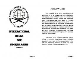 Arnis - Philippine Sports Commission