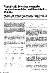 Aromatic Acid Derivatives as Corrosion Inhibitors for