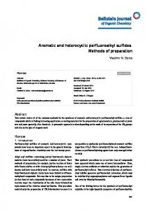 Aromatic and heterocyclic perfluoroalkyl sulfides ... - Beilstein Journals