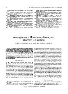 Arrangements, Homomorphisms, and Discrete ... - Robert Haralick