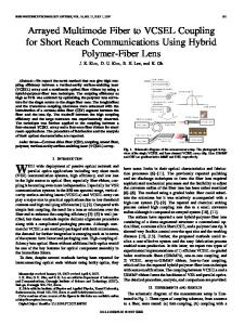 Arrayed Multimode Fiber to VCSEL Coupling for ... - YONSEI University
