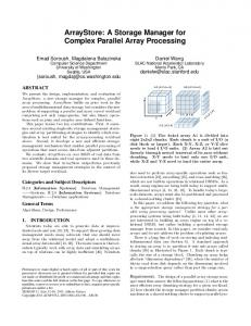 ArrayStore: A Storage Manager for Complex Parallel Array Processing