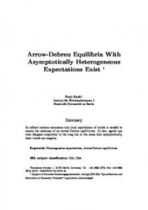 Arrow-Debreu Equilibria With Asymptotically Heterogeneous