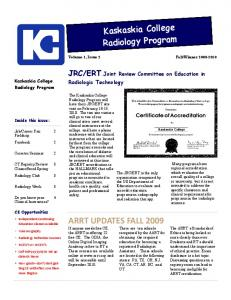 ARRT UPDATES FALL 2009 - Kaskaskia College