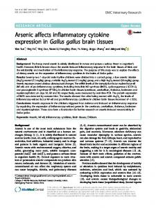 Arsenic affects inflammatory cytokine expression in