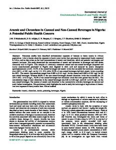 Arsenic and Chromium in Canned and Non-Canned ... - MDPI
