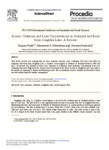 Arsenic Cadmium and Lead Concentrations in Sediment and ... - Core
