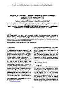 Arsenic, Cadmium, Lead and Mercury as Undesirable ... - CiteSeerX