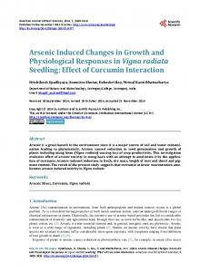 Arsenic Induced Changes in Growth and Physiological Responses in ...
