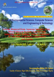 Arsenic Removal from Aqueous Solution using ...