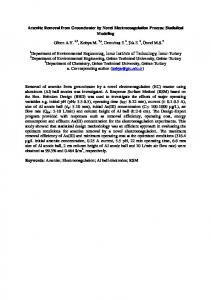 Arsenite Removal from Groundwater by Novel Electrocoagulation ...