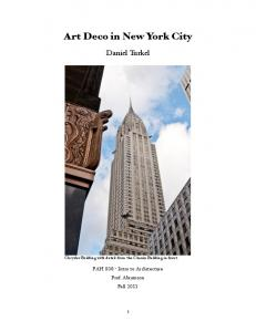 Art Deco in New York City - Dan Turkel