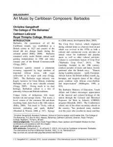 Art Music by Caribbean Composers: Barbados - Sfu
