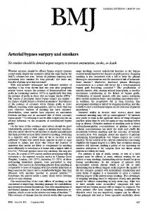 Arterial bypass surgery and smokers - Europe PMC
