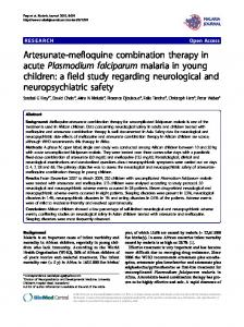 Artesunate-mefloquine combination therapy in acute ... - BioMedSearch
