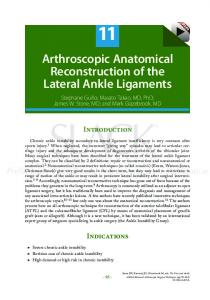 Arthroscopic Anatomical Reconstruction of the Lateral ...