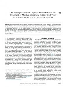 Arthroscopic Superior Capsular Reconstruction for ... - Semantic Scholar