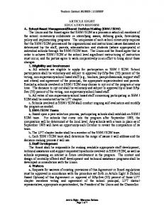 ARTICLE EIGHT EDUCATION REFORM A. School-Based ...