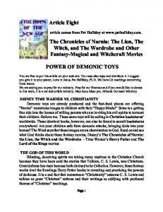 Article Eight The Chronicles of Narnia: The Lion, The Witch, and The ...