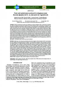 ARTICLE Fatty acid methyl esters produced by oleaginous ... - CiteSeerX