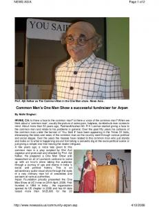 Article in News Asia - Arpan Foundation