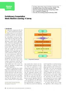 Article Review Evolutionary Computation Meets Machine Learning: A ...
