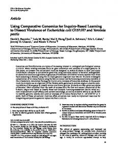 Article Using Comparative Genomics for Inquiry ... - BioMedSearch