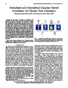 Articulated and Generalized Gaussian Kernel ... - IEEE Xplore