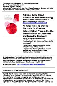 Artificial Cells, Blood Substitutes, and Biotechnology ...