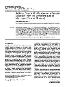 Artificial cranial modification on a female ... - Wiley Online Library