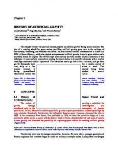artificial gravity - NASA Technical Reports Server (NTRS)