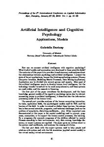 Artificial Intelligence and Cognitive Psychology