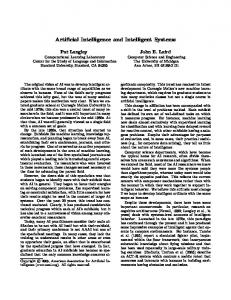 Artificial Intelligence and Intelligent Systems - Semantic Scholar