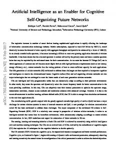 Artificial Intelligence as an Enabler for Cognitive ... - Semantic Scholar