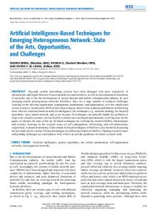 Artificial Intelligence-Based Techniques for Emerging ... - IEEE Xplore