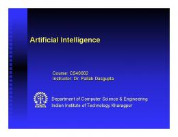 Artificial Intelligence: Introduction - Indian Institute of Technology ...