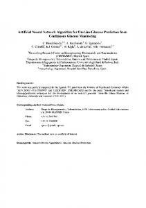 Artificial Neural Network Algorithm for On-Line Glucose ... - Core