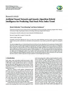 Artificial Neural Network and Genetic Algorithm Hybrid Intelligence for