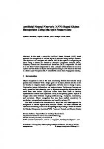 Artificial Neural Network (ANN) Based Object Recognition Using