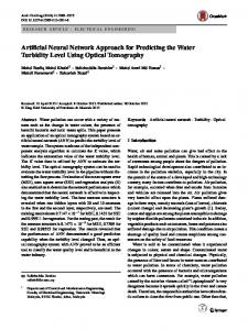 Artificial Neural Network Approach for Predicting the Water Turbidity ...